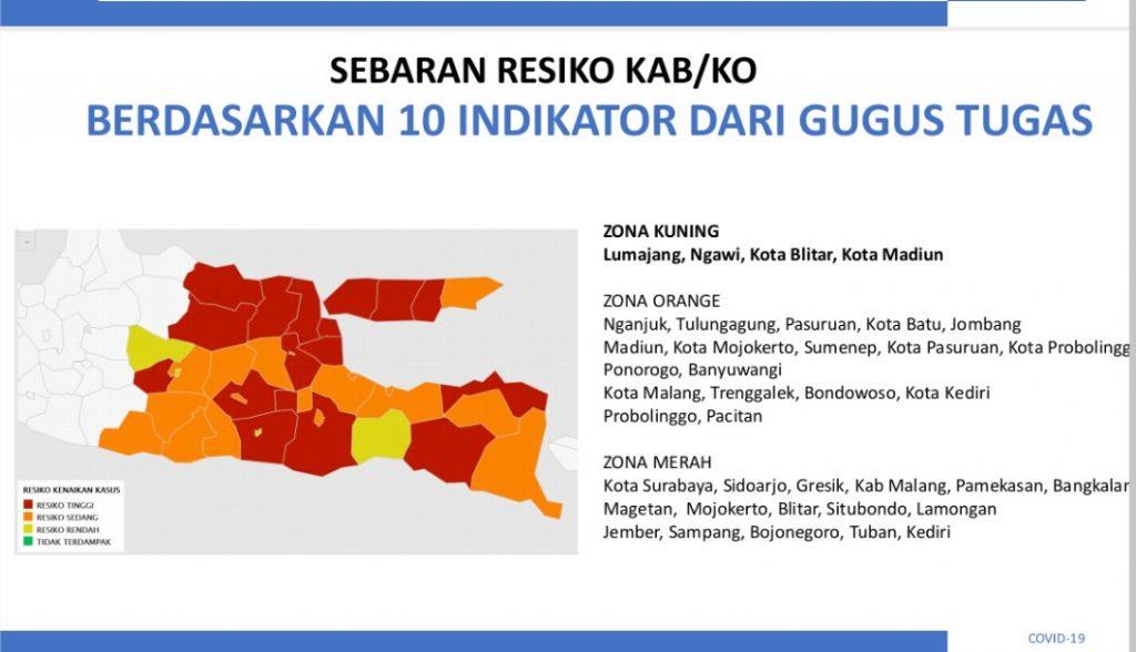 Kabar Gembira Empat Wilayah Di Jatim Jadi Zona Kuning Timlo Net